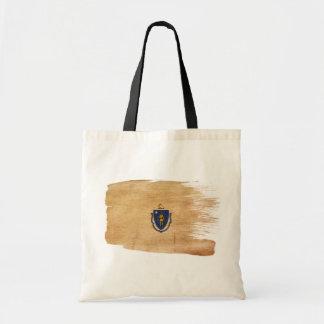 Massachusetts Flag Canvas Bags