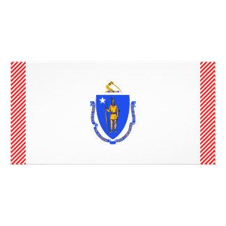 Massachusetts Flag Card