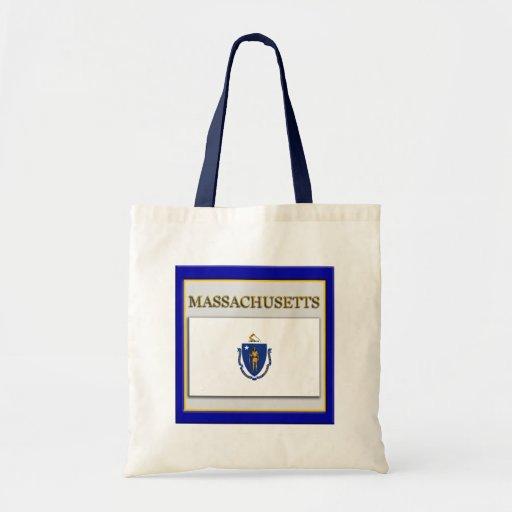 Massachusetts Flag Design Budget Tote Bag