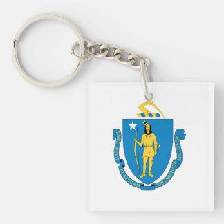 MASSACHUSETTS Flag Design - Keychain