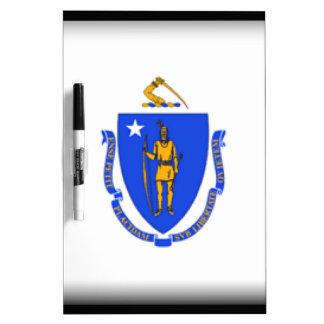 Massachusetts Flag Dry Erase White Board