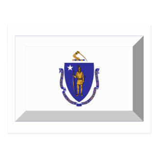 Massachusetts Flag Gem Postcard