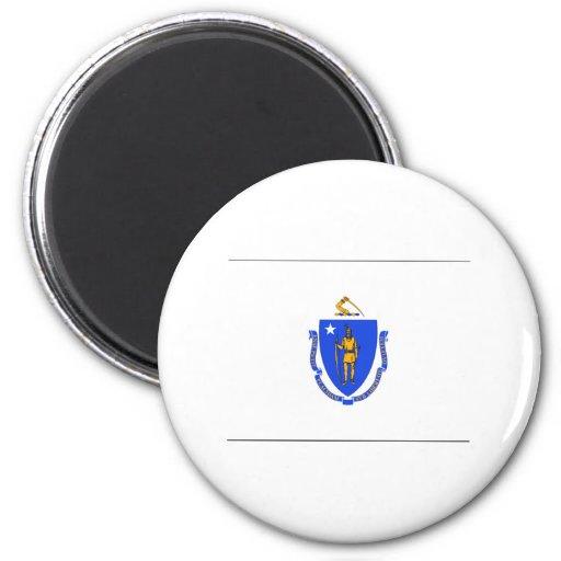 Massachusetts FLAG International Refrigerator Magnets