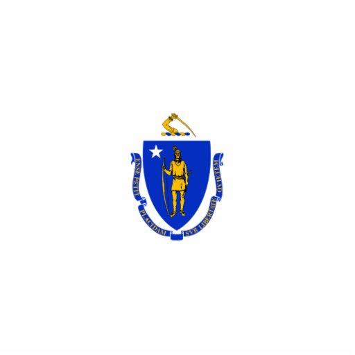 Massachusetts Flag Keychain Cut Out