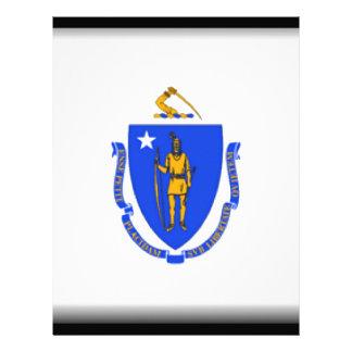 Massachusetts Flag Letterhead Design