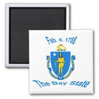 Massachusetts Flag Magnet