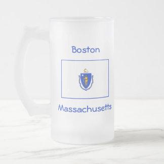 Massachusetts Flag Map City Mug