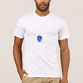 Massachusetts Flag Map T-Shirt