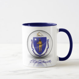 Massachusetts Flag Mug