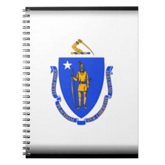 Massachusetts Flag Notebook