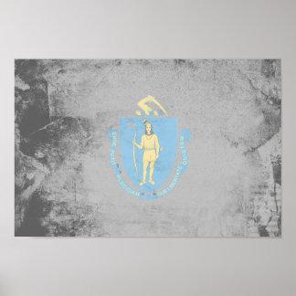 MASSACHUSETTS Flag Pattern Print