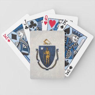 Massachusetts Flag Playing Cards