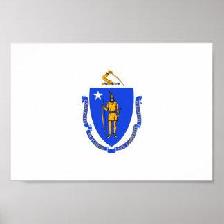 Massachusetts Flag Poster