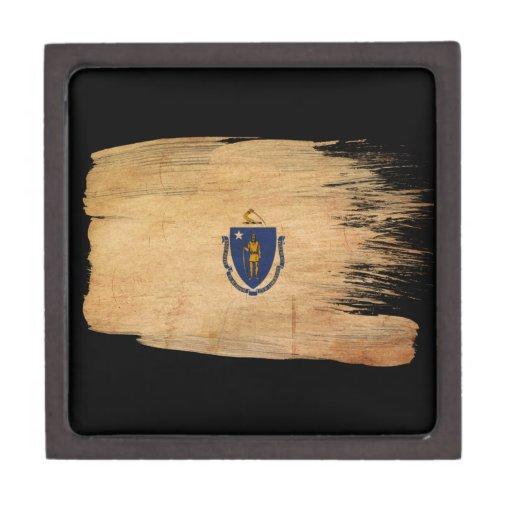 Massachusetts Flag Premium Jewelry Boxes