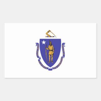 Massachusetts Flag Rectangular Sticker
