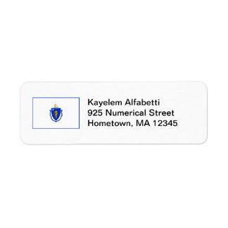 Massachusetts Flag Return Address Label