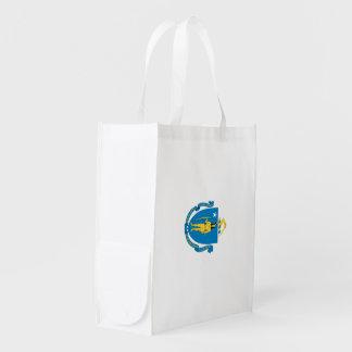 MASSACHUSETTS Flag - Reusable Grocery Bag