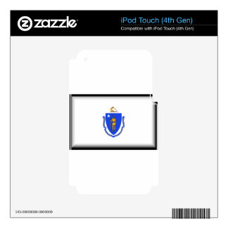 Massachusetts Flag Decal For iPod Touch 4G