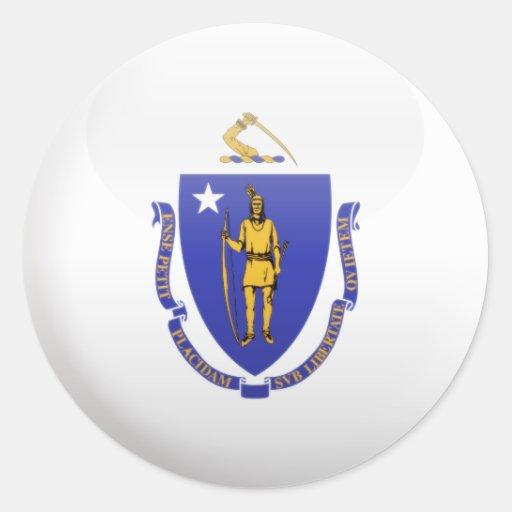 Massachusetts Flag Stickers