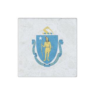 MASSACHUSETTS FLAG STONE MAGNET