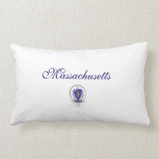Massachusetts Flag Symbol Lumbar Pillow