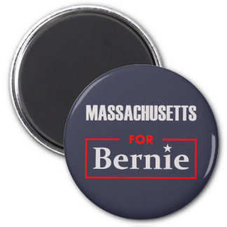 Massachusetts for Bernie 2 Inch Round Magnet