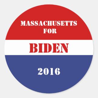 Massachusetts for Biden 2016 Classic Round Sticker