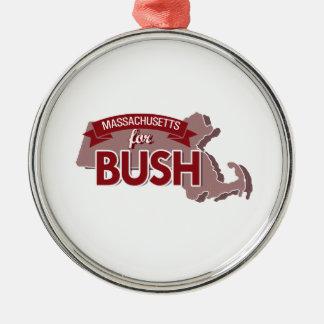 MASSACHUSETTS FOR BUSH -.png Christmas Tree Ornament