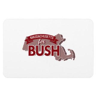 MASSACHUSETTS FOR BUSH -.png Rectangular Photo Magnet
