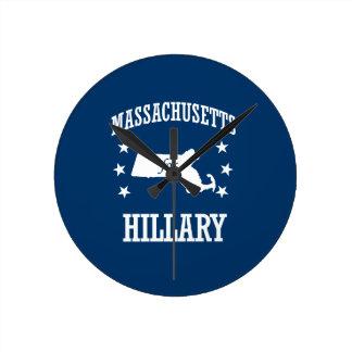 MASSACHUSETTS FOR HILLARY ROUND CLOCK