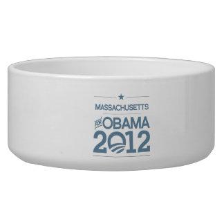 MASSACHUSETTS FOR OBAMA 2012.png Pet Bowls