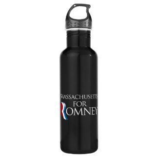 Massachusetts for Romney -.png 24oz Water Bottle