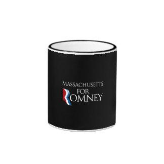 Massachusetts for Romney -.png Ringer Coffee Mug