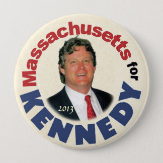 Massachusetts for (Ted) Kennedy (Jr.) Button