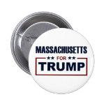 Massachusetts for Trump Pinback Button