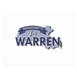 MASSACHUSETTS FOR WARREN -.png Postcard