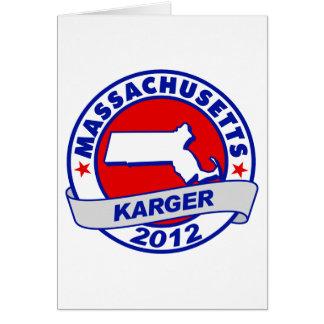 Massachusetts Fred Karger Card