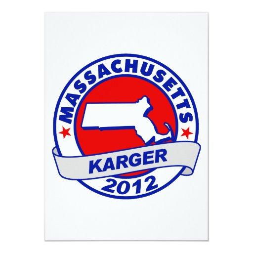 "Massachusetts Fred Karger Invitación 5"" X 7"""