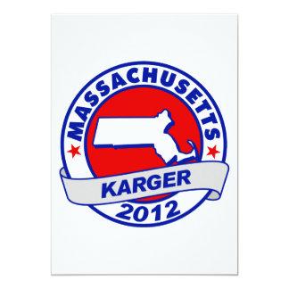 Massachusetts Fred Karger 5x7 Paper Invitation Card