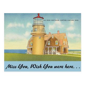 Massachusetts, Gay's Head Lighthouse Postcard