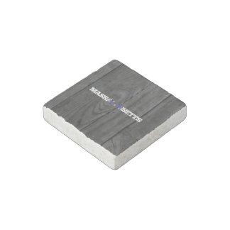 Massachusetts Stone Magnet