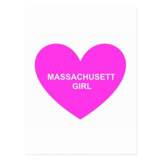 Massachusetts Girl Postcard