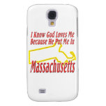 Massachusetts - God Loves Me Samsung Galaxy S4 Cases