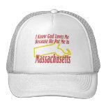Massachusetts - God Loves Me Mesh Hats
