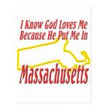 Massachusetts - God Loves Me Post Cards