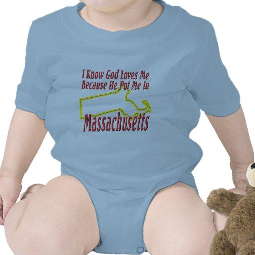 Massachusetts - God Loves Me Tees