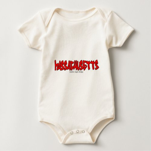 Massachusetts Graffiti Baby Bodysuit