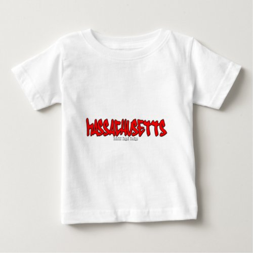 Massachusetts Graffiti Baby T_Shirt