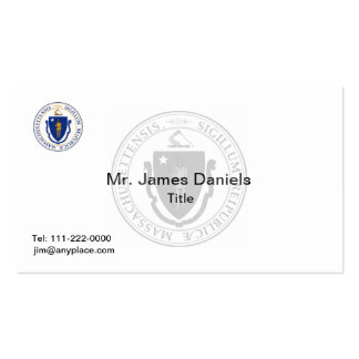 Massachusetts Great Seal Business Card