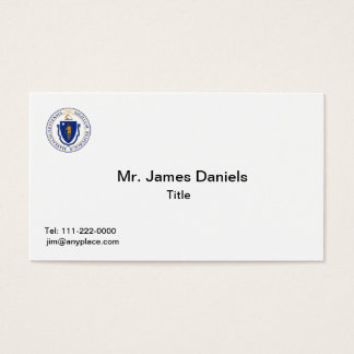 Massachusetts Great Seal Business Card Templates